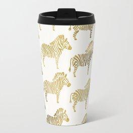 Golden Zebras Travel Mug