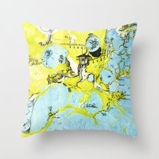 #100 The Map Room Throw Pillow