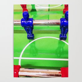 Figures of a foosball table Poster