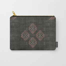 Kilim in Black and Pink Carry-All Pouch