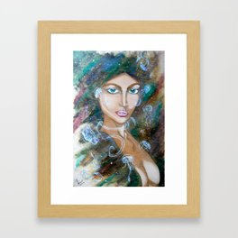 Goddess of Dreams Framed Art Print