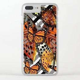 MODERN BUTTERFLY ORANGE-YELLOW  ART Clear iPhone Case