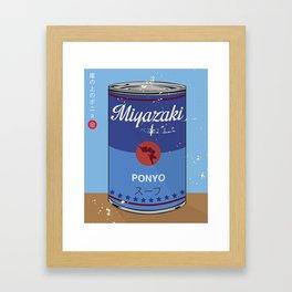 Ponyo - Miyazaki - Special Soup Series  Framed Art Print