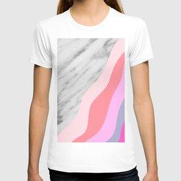Carrara Italian Marble with Pink Shadows T-shirt