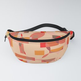 Overlapping circles - warm colors Fanny Pack