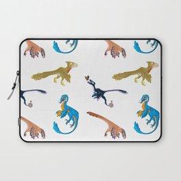 Repeating Dino Pattern Laptop Sleeve