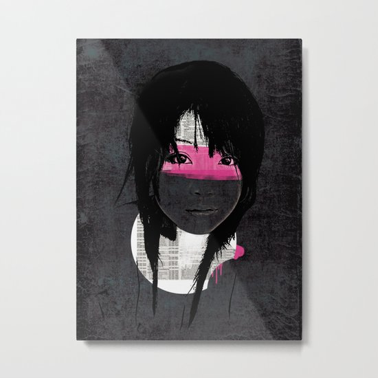 Pink Phone Metal Print