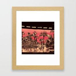 PINKPALMBLACKWATERTREE Framed Art Print