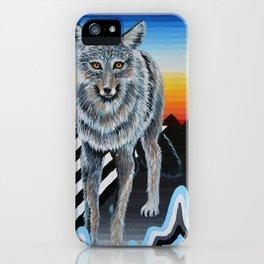 Geometric Coyote iPhone Case