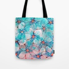 Flowers from Pink to Turquoise Tote Bag