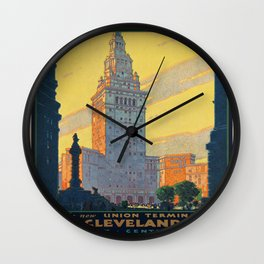 Vintage poster - Cleveland Wall Clock