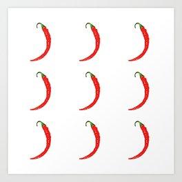 chili pepper Art Print