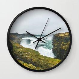 Gigantic Gullfoss Wall Clock