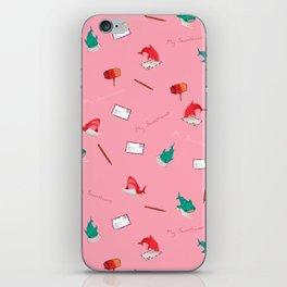 Pink Shark and Whale Shark iPhone Skin