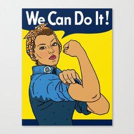 Latina Rosie The Riveter Canvas Print