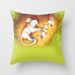 With Mom Throw Pillow