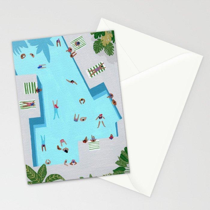 Crisp cut swim Stationery Cards
