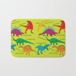 Dinosaur Print - Colors Bath Mat
