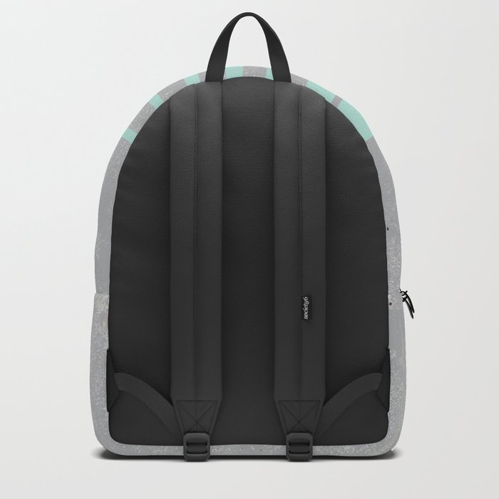 Soft cyan stripes on concrete Backpack