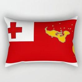 Tonga Flag with Tongan Map Rectangular Pillow