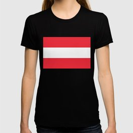 Austrian National flag - authentic version (High quality image) T-shirt