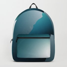 Hand underwater, rescue concept Backpack