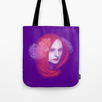 peony Tote Bags featuring Peony by Ulfvidh