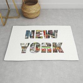 New York (typography) Rug
