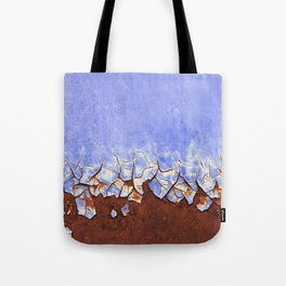 Rust and Blue Tote Bag