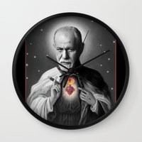 freud Wall Clocks featuring Freud by Michelle Wenz