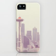 Thinking of you. Seattle skyline Space Needle photograph iPhone (5, 5s) Slim Case