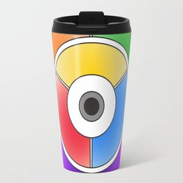 The theory of colouring - Diagram of colour by J. Bacon, 1866, Remake (no text) Travel Mug