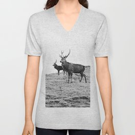Stags on the hill Unisex V-Neck