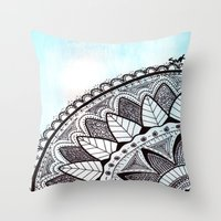 zentangle Throw Pillows featuring Zentangle by Nathanee.