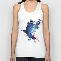 blood Tank Tops featuring Bloody Crow by Robert Farkas