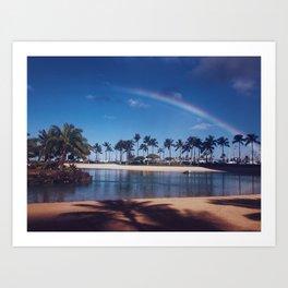 Aloha Rainbow Art Print