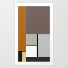 Brown Geometric Art Print