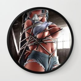 Restrained,Captive, Teenage, Hentai in Abduction Bondage Role Play Wall Clock