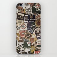 coasters iPhone & iPod Skins featuring Beer by Nicklas Gustafsson