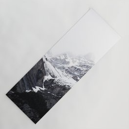 Moody snow capped Mountain Peaks - Nature Photography Yoga Mat
