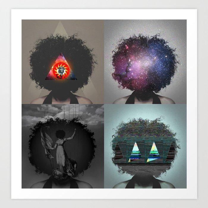 Four women Art Print