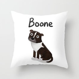 "Custom Artwork, ""Boone"" Throw Pillow"