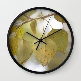 Dreamy Lichen Leaf Wall Clock