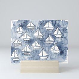 Sail with us! Mini Art Print
