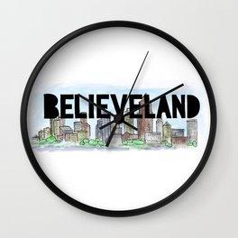 Believeland Cleveland Ohio Wall Clock