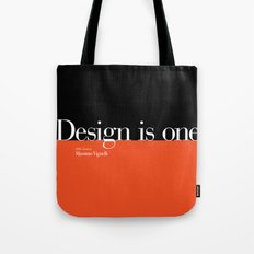 Design is One — Honoring Massimo Vignelli Tote Bag