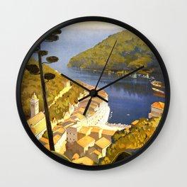 La Riviera Italienne - Italy Vintage Travel Poster 1920 Wall Clock