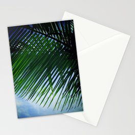 Sunlit Palm Leaves Stationery Cards