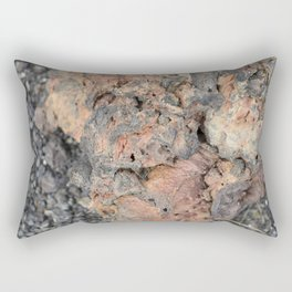 Iceland Rocks: Red Rhyolite Edition Rectangular Pillow