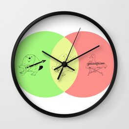 Keytar Platypus Venn Diagram - GYR Wall Clock